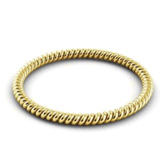 Danhov Eleganza  Braided Wedding Band for Her in 18k Yellow Gold