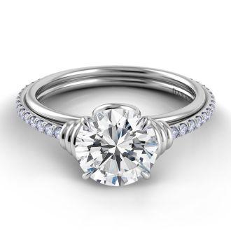 Danhov Unito Wrap Handmade Engagement Ring in 14k White Gold