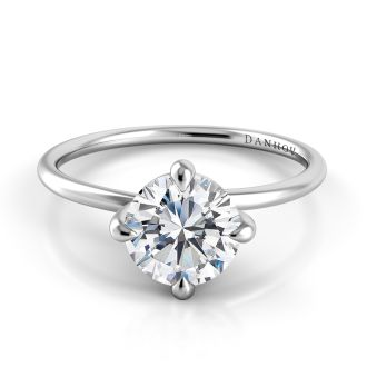 Danhov Eleganza Solitaire Diamond Ring  in 14k White Gold