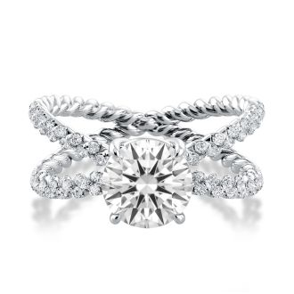 Danhov Eleganza  Engagement Ring in 14k White Gold