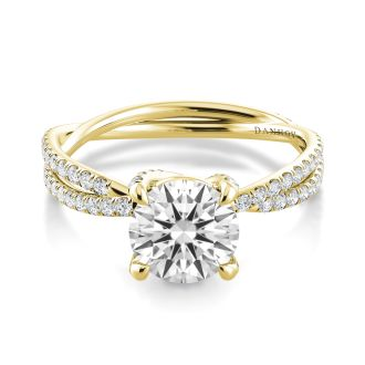 Danhov Eleganza Designer Engagement Ring in 18k Yellow Gold