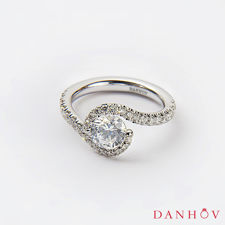 Handmade Tension Engagement Ring Danhov