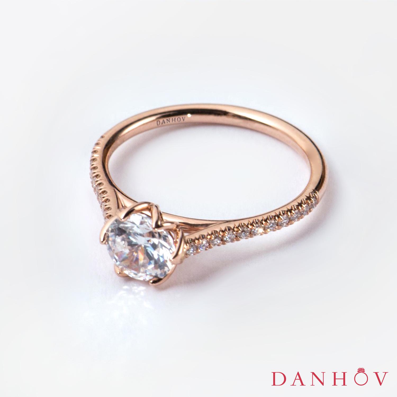 Rose gold engagement ring danhov